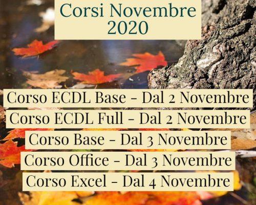 Corsi Novembre 2020
